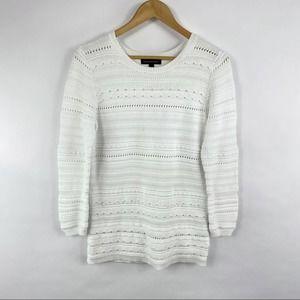 Banana Republic Scalloped White Sweater